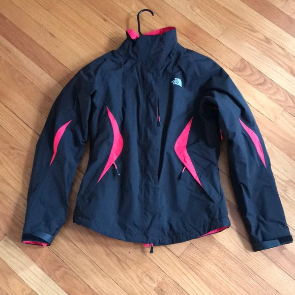 7fd11b95e North Face 2 in 1 Red and Black Ski Jacket